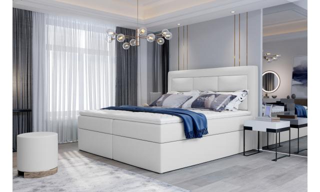 Kvalitní box spring postel Vanity 180x200, bílá