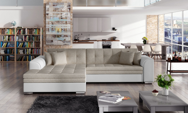 Moderní rohová sedačka Santos, béžová