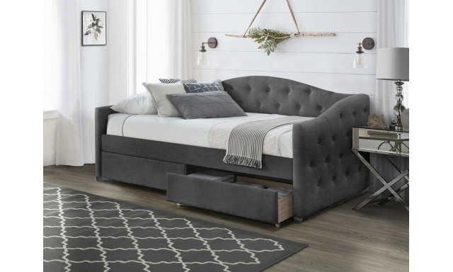 ALOHA bed with drawers, color: grey