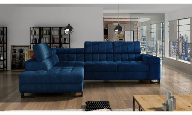 Luxusní sedací souprava Lambada, modrá