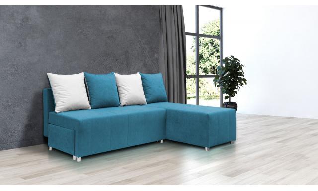 Nejlevnější sedací souprava Filip 1, modrá