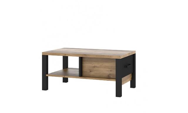 Konferenční stolek Olmar 99, smrk Apenzelský/černý mat