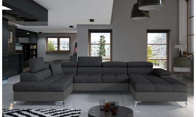Rohová sedačka ve tvaru U Esperanza, šedá Inari