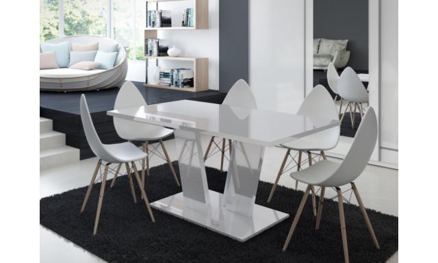 Moderní jídelní stůl Voice, bílý lesk