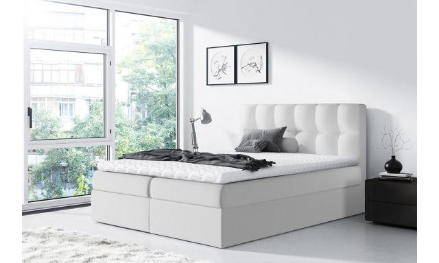 Moderní box spring postel Rapid 200x200, bílá