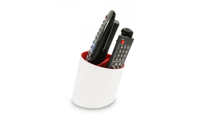 Stojánek na dálkové ovladače J-ME Tilt Remote Tidy, bílý/červený