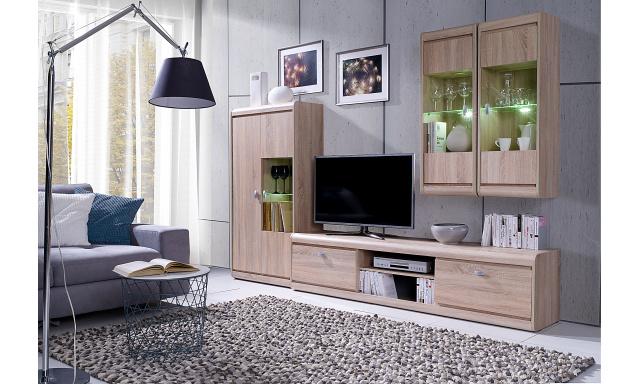 Moderní bytový nábytek Spezzo sestava A, sonoma