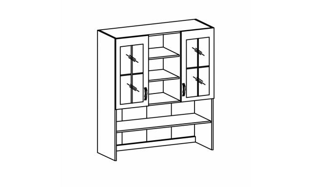 REVAL horní skřínka 120cm - vitrína