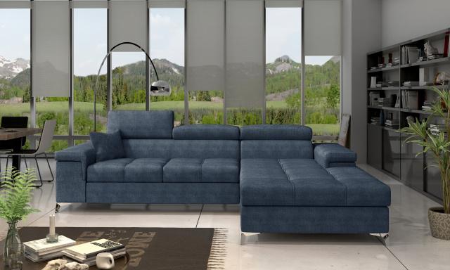 Moderní rohová sedačka Relina, modrá