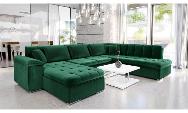 Luxusní sedací souprava Kaniko, zelená