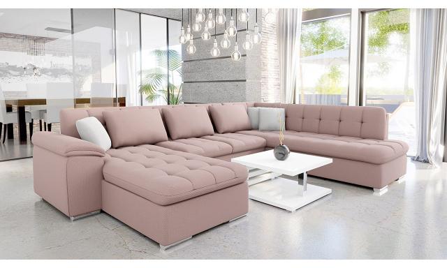 Luxusní sedací souprava Kaniko, růžová