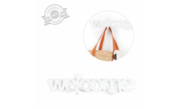 Věšák BALVI Welcome, bílý