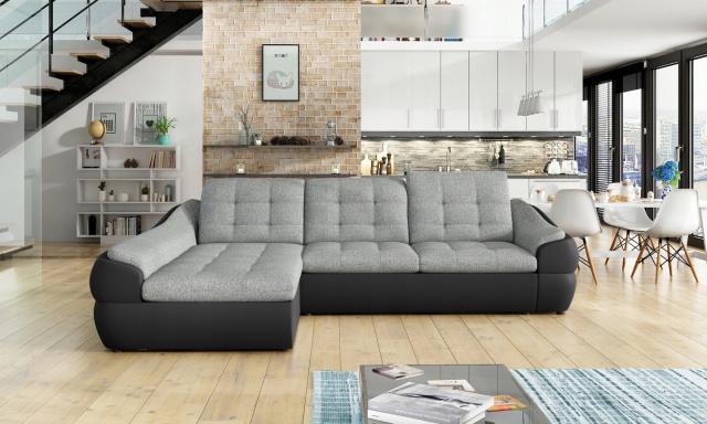 Designová sedací souprava Nalini mini, černá/šedá