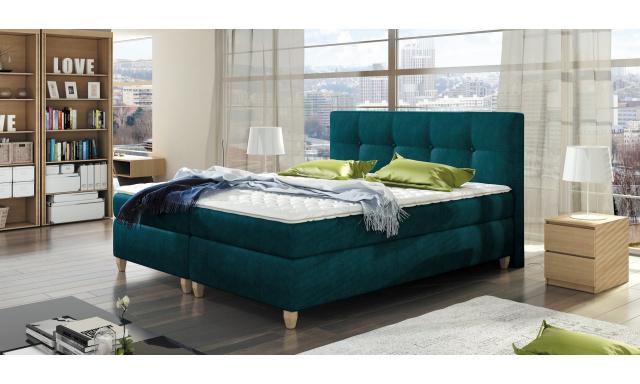 Luxusní box spring postel Melanie 140x200