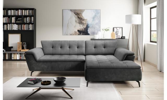 Luxusní sedací souprava Mello, tmavě šedá