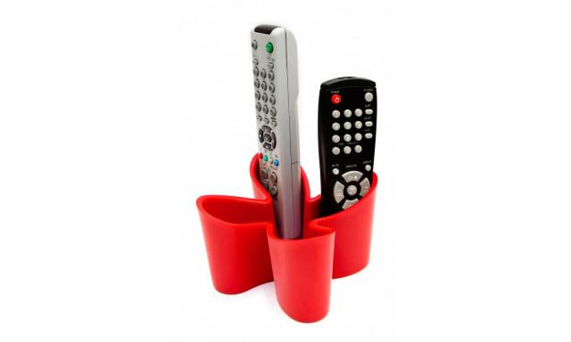 Stojánek na dálkové ovladače J-ME Cozy Remote Tidy, červený