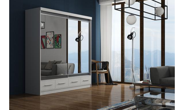 Velká šatní skřín Marbella 200cm, bílá