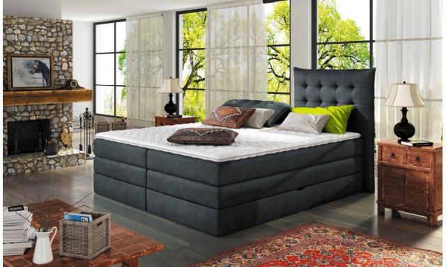 Luxusní box spring postel Auris 180x200