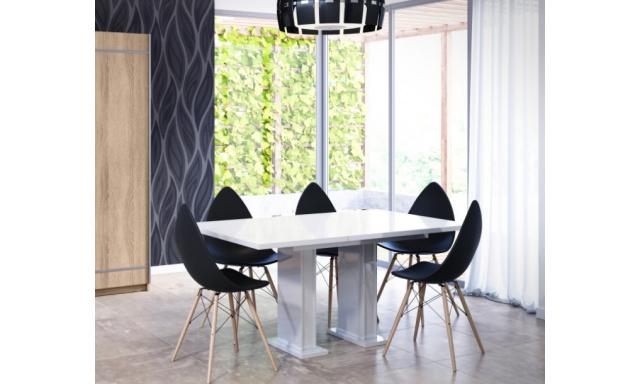 Rozkládací jídelní stůl Gloss, bílý lesk
