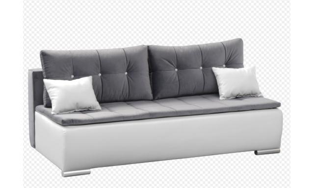Moderní pohovka Zuzka, bílá/šedá