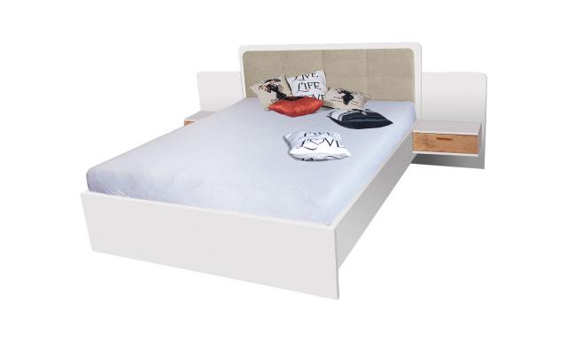 Manželská postel Efka 160x200cm, borovice andersen