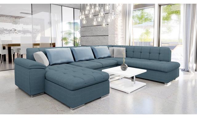 Luxusní sedací souprava Kaniko, modrá