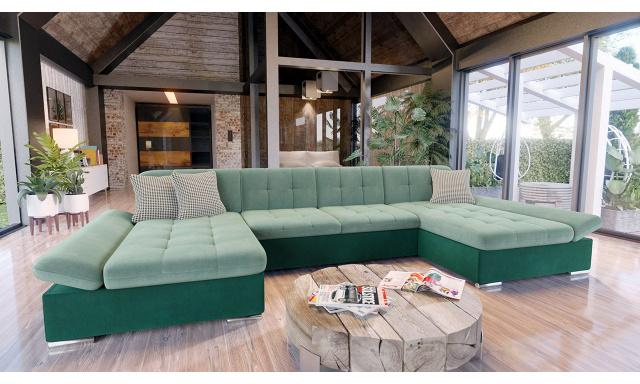 Luxusní sedací souprava Agapi, zelená Venus Velvet