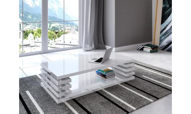 Moderní konferenční stůl Piazza, bílý lesk