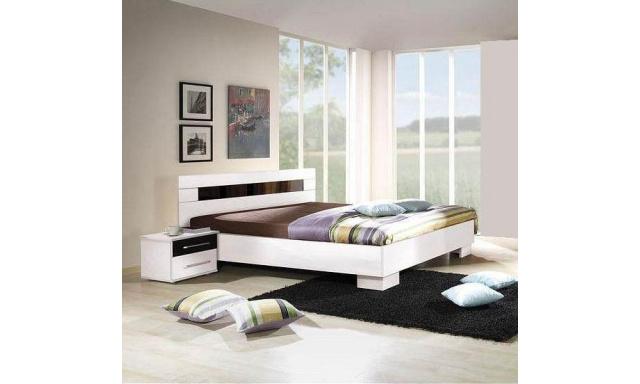 Bílá manželská postel Dublin A 160x200cm