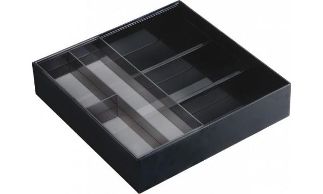 Priehradky do zásuvky Yamazaki Tower Desk Tray, čierne