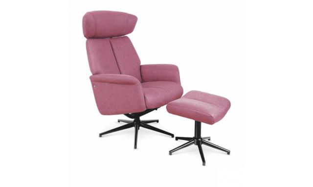 Relaxační židle s ubrusem Viva pink