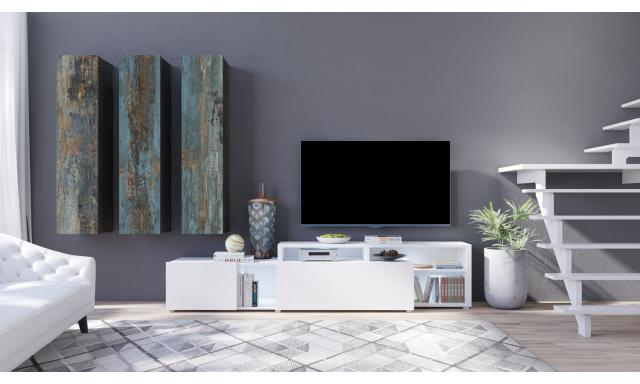 Designová obývací stěna Michigan E, bílá/canyon painted