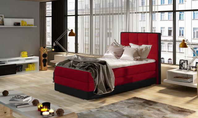 Moderní box spring postel Adria 90x200, červená