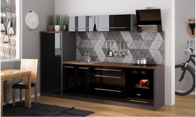 Luxusní kuchynská linka Platinum K, vysoký lesk!