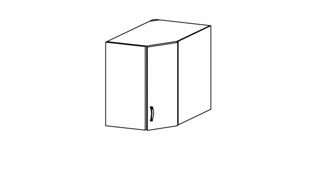 REVAL horní skřínka 60cm - rohová