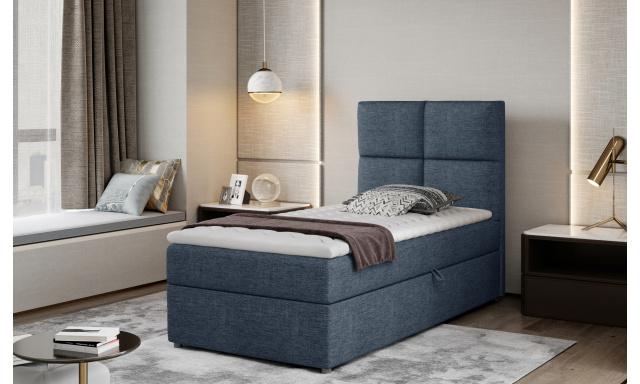 Moderní box spring postel Garda 90x200, modrá Savana