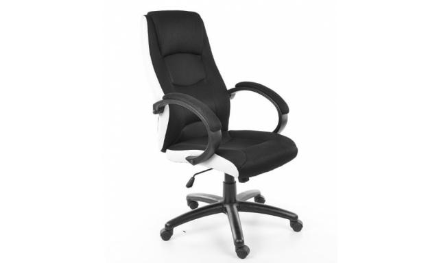 Kancelářské křeslo Sig308, bílá/černá