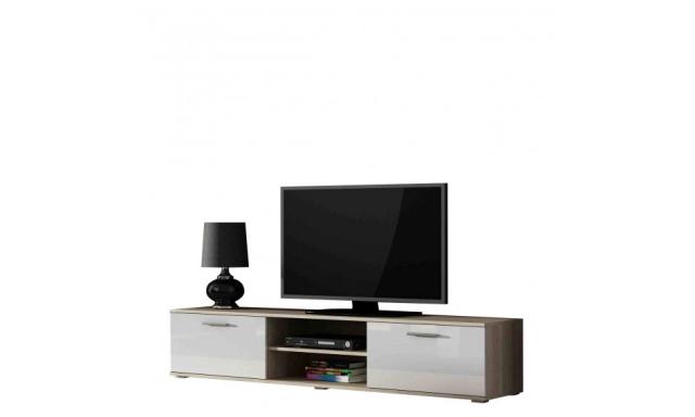Moderní televizní stolek Zita 180, sonoma/bílý lesk