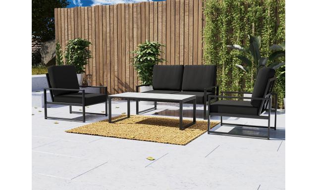 Luxusní zahradní sestava Roberto, 2+1+1+stolek