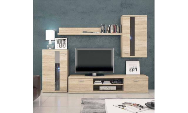 Moderní obývací stěna Lumen, sonoma