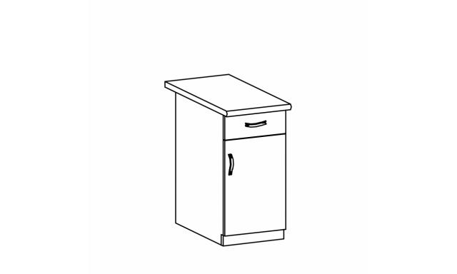 REVAL dolní skřínka 40cm - 1 zásuvka, pravá