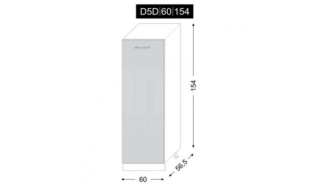 PLATINUM dolní skřínka 60cm D5D/60