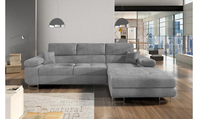 Moderní rohová sedačka Alcudia, šedá