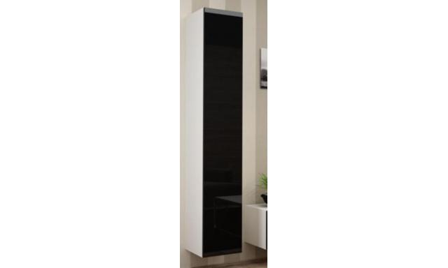 Závěsná skřínka Igore 180 plná, bílá/černý lesk