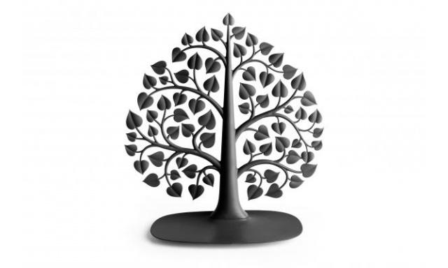 Stojánek na šperky QUALY Bodhi Accessories Tree, černý