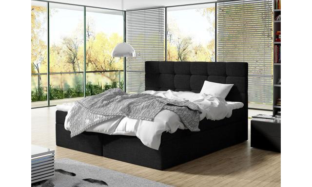 Moderní box spring postel Lipari 180x200, černá
