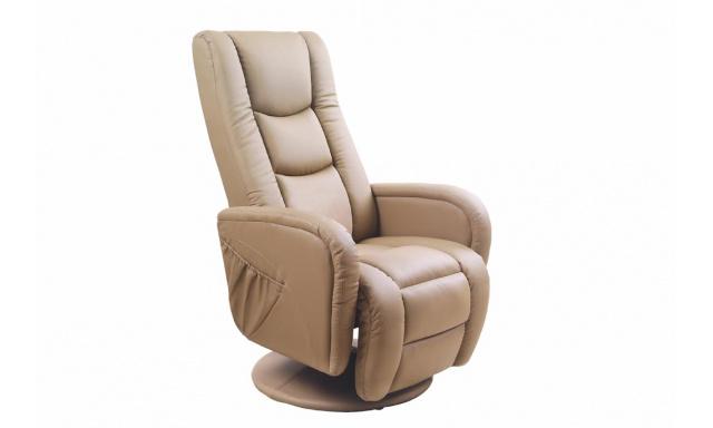 Pohovka relaxační teplá židle, béžová