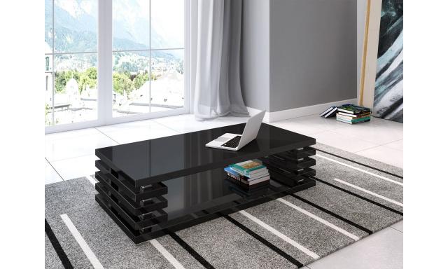 Moderní konferenční stůl Piazza, černý mat