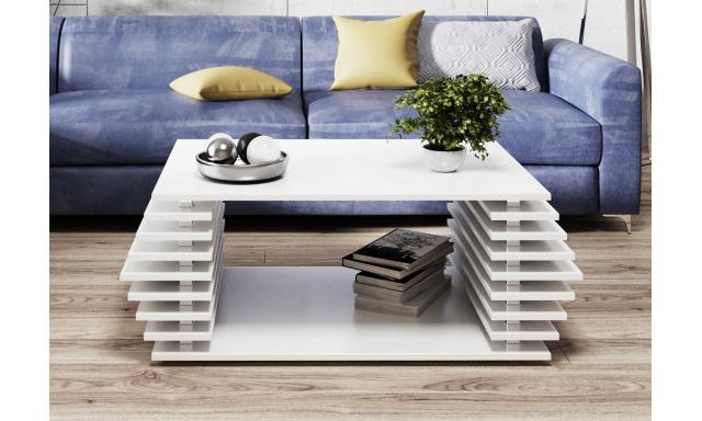 Moderní konferenční stůl Oskar, bílý mat