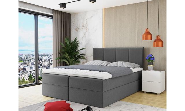 Kontinentální postel Rijeka 160x200, šedá